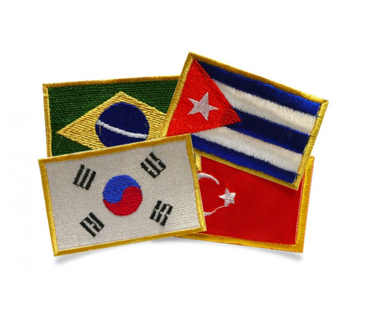 Embroidered patches of countries (22)