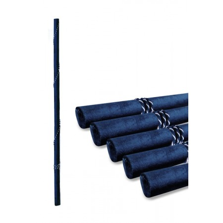 Navy Velvet and cord fitted Pole