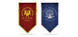 Velvet banners