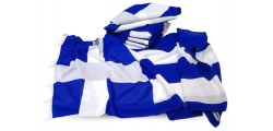 Greek flags printed
