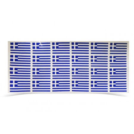 Stickers Hellas 4.5cm*3cm on a sheet of 28cm*14cm